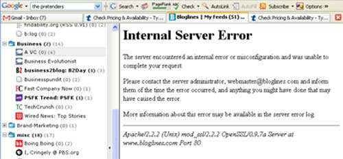 bloglines error message