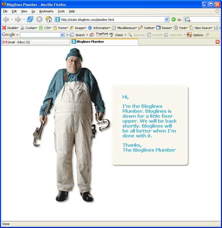 bloglines plumber